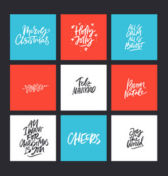 xmas calligraphy collection vector image