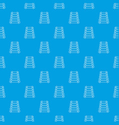 xylophone pattern seamless blue vector image