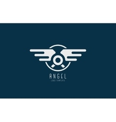 Angel logo Minimalistic logo design Wings logo vector image