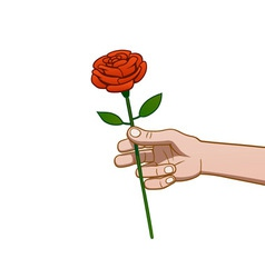 giving a rose vector image vector image