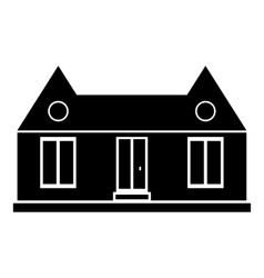 Suburban american house icon simple style vector image