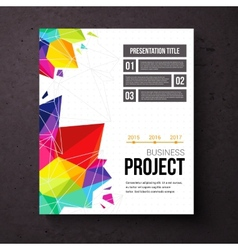 Business Project presentation template vector image vector image
