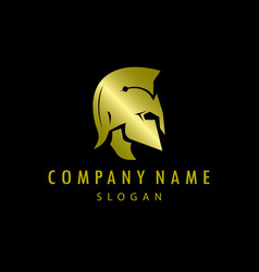 Gladiator gold logo black background vector