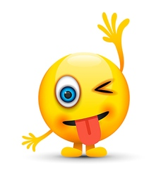 hand up emoji character vector image vector image