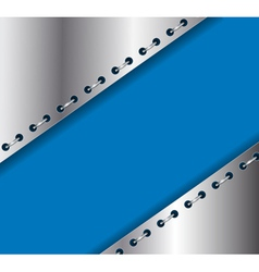 metallic rings vector image