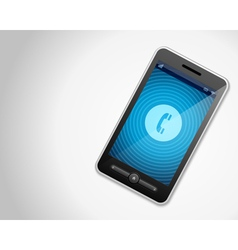 Mobile phone and incoming call vector image