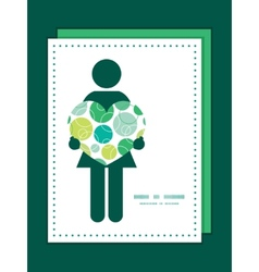 Abstract green circles woman in love vector