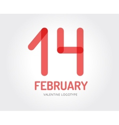 Abstract valentine logo template for vector image vector image