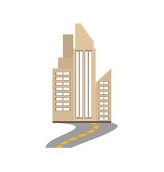 building city real estate road vector image