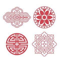 Korean traditional design elements vector