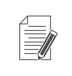 note with pencil icon vector image