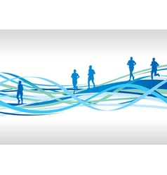 runners spiral vector image vector image