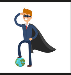 superhero business man character vector image vector image