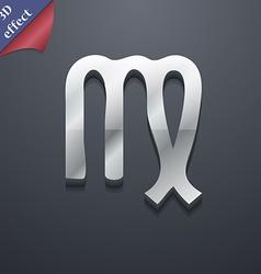 Virgo icon symbol 3D style Trendy modern design vector image