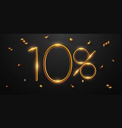 10 percent off discount creative composition vector