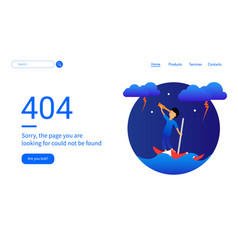 404 error web pages design with boy and umbrella vector image