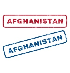 Afghanistan Rubber Stamps vector