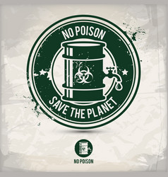 alternative no poison stamp vector image