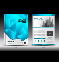 annual report brochure flyer template layout vector image