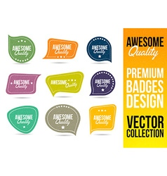 Awesome Quality Logo Badge Emblem vector image