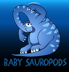 Baby Sauropods cute character dinosaurs vector