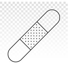 Bandage or medical plaster line art icon for app vector