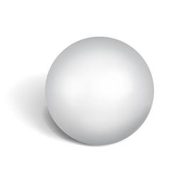 Big white sphere vector