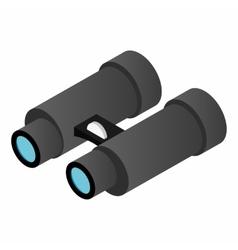 Black binoculars isometric 3d icon vector