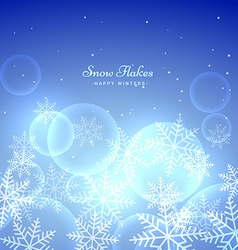blue background with snowflakes vector image