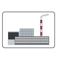 Building of a factory in the frame vector image