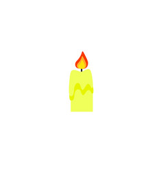 candle of the color icon halloween fire vector image