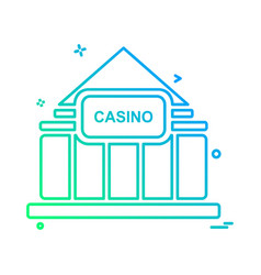 casino icon design vector image