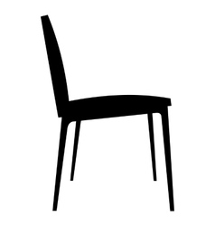 Chair simple icon vector