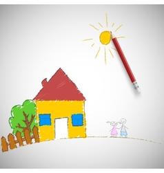 children painting vector image