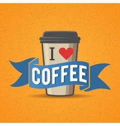 Coffe to go badge label vector