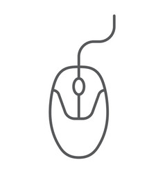 computer mouse thin line icon electronic device vector image