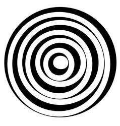 Concentric circles w dynamic irregular line vector