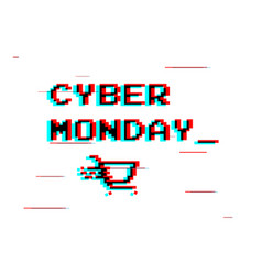 cyber monday white label or advertising tag with vector image