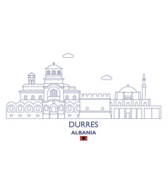durres city skyline vector image