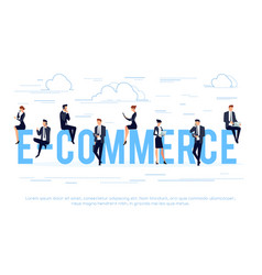 e-commerce business concept in a flat style vector image