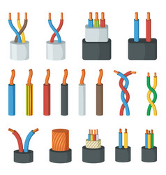 Electrical cable wires different amperage and vector