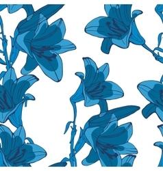 Elegant seamless lilly flowers pattern vector