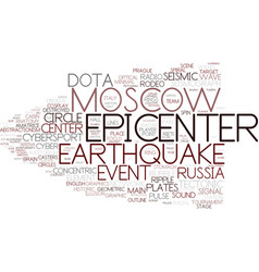 epicenter word cloud concept vector image