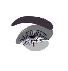 Eye make up fashion in shades of vector