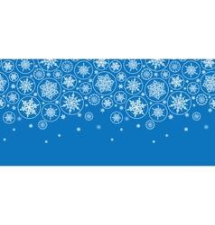 Falling Snowflakes Horizontal Border Seamless vector