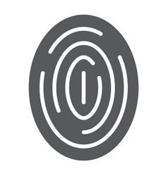 fingerprint glyph icon scan and thumbprint id vector image