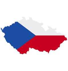 Flag in map czech republic vector