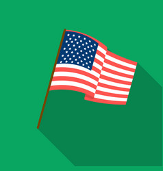 Flag of the united states icon in flate style vector