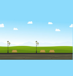 Flat of garden for background game vector