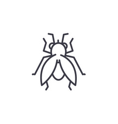 Fly line icon sign on vector